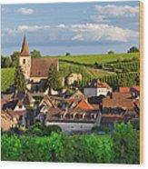Hunawihr Alsace Wood Print by Brian Jannsen