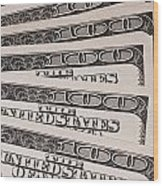 Hundred Dollar Bills Wood Print