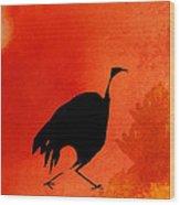 Hunter Bird Wood Print