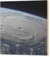 Hurricane Felix Over The Caribbean Sea Wood Print