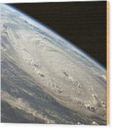 Hurricane Felix Wood Print