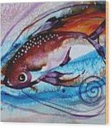 Hurricane Fish 28 Wood Print