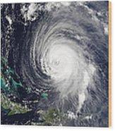 Hurricane Isabel Wood Print