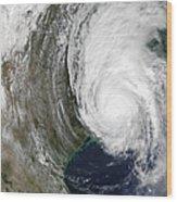 Hurricane Lili Wood Print