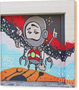 I Want To Go Into Space Man Wood Print