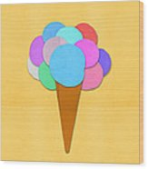 Ice Cream On Hand Made Paper Wood Print