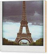 Illustration Of Eiffel Tower Wood Print