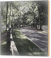 In My Dream The Road Less Traveled Wood Print