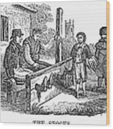 In The Stocks Wood Print by Granger