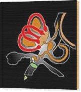 Inner Ear Anatomy, Artwork Wood Print