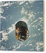 Intelsat Vi, A Communication Satellite Wood Print by Everett