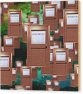 Internet Chat Rooms Wood Print by Victor Habbick Visions
