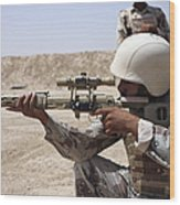 Iraqi Army Sergeant Sights Wood Print