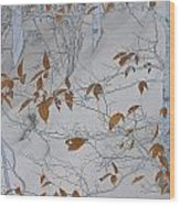 Ironwood In The Snow Wood Print
