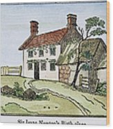 Isaac Newton Birthplace Wood Print