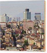 Istanbul Cityscape Wood Print