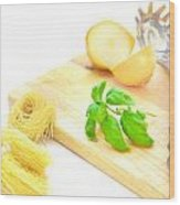 Italian Food Wood Print by Tom Gowanlock