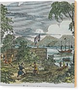 Jamestown Wood Print