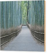 Japan Kyoto Arashiyama Sagano Bamboo Wood Print by Rob Tilley