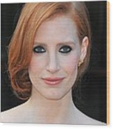 Jessica Chastain At Arrivals For The Wood Print by Everett