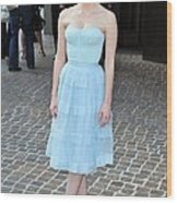 Jessica Chastain Wearing A Christian Wood Print