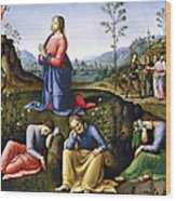 Jesus: Agony In The Garden Wood Print