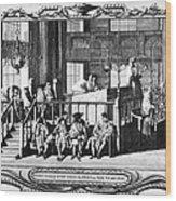 Jewish Life, 18th Century Wood Print