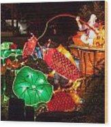 Jiang Tai Gong Fishing Wood Print