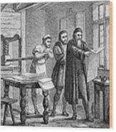 Johann Gutenberg, German Inventor Wood Print