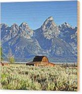 John Moulton Barn - Grand Teton National Park Wood Print