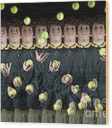 Juggler Wood Print by Ted Kinsman