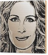 Julia Roberts In 2008 Wood Print