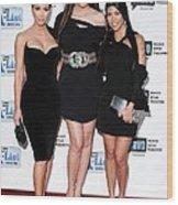 Kim Kardashian, Khloe Kardashian Wood Print by Everett