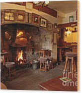 Kings Head Pub Kettlewell Wood Print