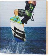 Kitesurfer Wood Print