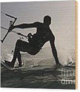 Kitesurfing Board Wood Print