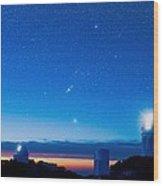 Kitt Peak National Observatory At Night Wood Print