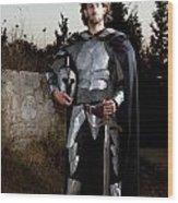 Knight In Shining Armour Wood Print by Yedidya yos mizrachi