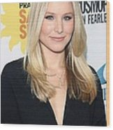 Kristen Bell At Arrivals For Cosmos Wood Print