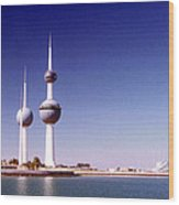 Kuwait Towers Wood Print