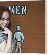 Ladies' Men's Wood Print