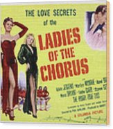 Ladies Of The Chorus, Adele Jergens Wood Print by Everett