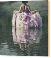 Lady In The Lake Wood Print