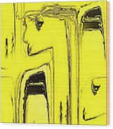 Lady In Yellow Wood Print