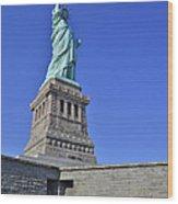 Lady Liberty 12 Wood Print