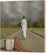 Lady On The Road Wood Print by Joana Kruse