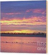 Lagerman Reservoir Sunrise Wood Print