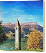 Lago Di Resia - Alto Adige. reshen Wood Print