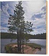 Lake Huosius At Hossa Wood Print