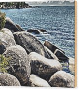 Lake Tahoe Vista Wood Print